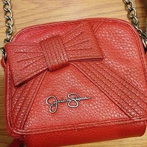 Red cross cross body purse